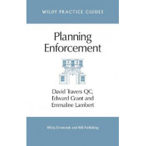 Planning Enforcement by David Travers, 9780854901166