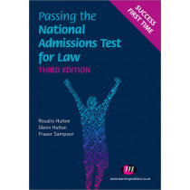 Passing the National Admissions Test for Law (LNAT) by Rosalie Hutton, 9780857254856