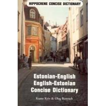 Estonian-English / English-Estonian Concise Dictionary by Harry Albright, 9780870520815