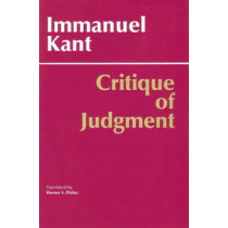 Critique of Judgment by Immanuel Kant, 9780872200258