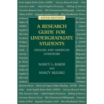 A Research Guide for Undergraduate Students by Nancy L. Baker, 9780873529242