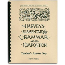 Harveys Elementary Grammar Key by Eric E Wiggin, 9780880621533