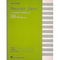 Standard Wirebound Manuscript Paper (Green Cover) by Hal Leonard Corp, 9780881884999