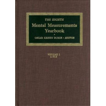 The Eighth Mental Measurements Yearbook (2 Volumes): 2 Volumes by Buros Center for Testing, 9780910674249
