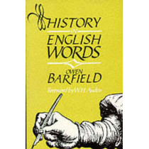 History in English Words by Owen Barfield, 9780940262119