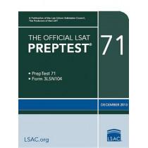 The Official LSAT Preptest 71: Dec. 2013 LSAT by Law School Admission Council, 9780986045509