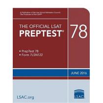 The Official LSAT Preptest 78: (june 2016 LSAT) by Law School Council, 9780986086250