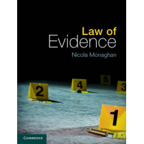 Law of Evidence by Nicola Monaghan, 9781107020337