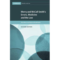 Merry and McCall Smith's Errors, Medicine and the Law by Alan Merry, 9781107180499