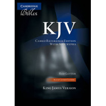 KJV Cameo Reference Edition with Apocrypha KJ455:XRA Black Calfskin Leather, 9781107608078