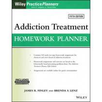 Addiction Treatment Homework Planner by James R. Finley, 9781119278047