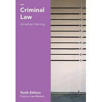 Criminal Law by Jonathan Herring, 9781137604576