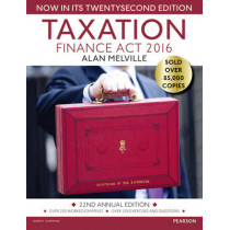 Taxation: Finance Act 2016 by Alan Melville, 9781292139104