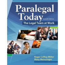 Paralegal Today: The Legal Team at Work by Mary Meinzinger, 9781305506084