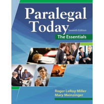 Paralegal Today: The Essentials by Mary Meinzinger, 9781305508743
