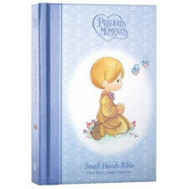NKJV, Precious Moments Holy Bible, Hardcover, Blue, 9781400315192