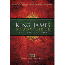 KJV Study Bible, Large Print, Hardcover, Red Letter Edition: Second Edition, 9781401679484