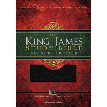 KJV Study Bible, Large Print, Bonded Leather, Black, Red Letter Edition: Second Edition by Thomas Nelson, 9781401679569