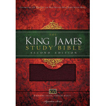 KJV Study Bible, Large Print, Bonded Leather, Burgundy, Red Letter Edition: Second Edition by Thomas Nelson, 9781401679590