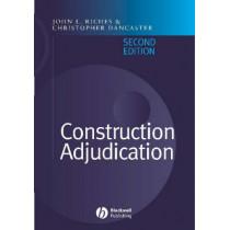 Construction Adjudication by John Riches, 9781405106351