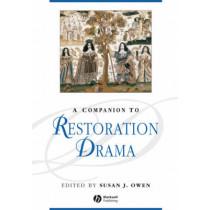 A Companion to Restoration Drama by Susan J. Owen, 9781405176101