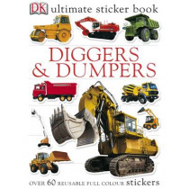 Diggers & Dumpers Ultimate Sticker Book by DK, 9781405308861