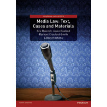 Media Law: Text, Cases and Materials by Professor Eric Barendt, 9781408221617