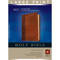 NLT Slimline Center Column Reference Bible, Large Print, 9781414338491