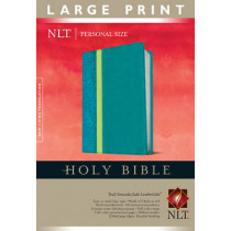 NLT Holy Bible Personal Size Large Print, Teal, Indexed, 9781414398457
