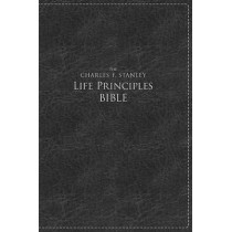 NKJV, The Charles F. Stanley Life Principles Bible, Large Print, Leathersoft, Black, Thumb Indexed: Large Print Edition by Charles F. Stanley, 9781418547035