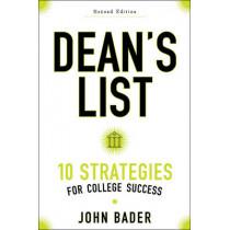 Dean's List: Ten Strategies for College Success by John B. Bader, 9781421422374