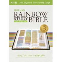 NIV Rainbow Study Bible, Purple LeatherTouch by Holman Bible Staff, 9781433616532