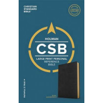 CSB Large Print Personal Size Reference Bible, Black LeatherTouch by CSB Bibles by Holman CSB Bibles by Holman, 9781433647734