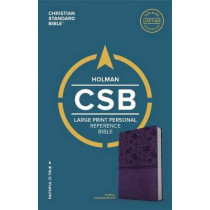 CSB Large Print Personal Size Reference Bible, Purple LeatherTouch by CSB Bibles by Holman CSB Bibles by Holman, 9781433647819