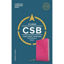 CSB Large Print Personal Size Reference Bible, Pink LeatherTouch by CSB Bibles by Holman CSB Bibles by Holman, 9781433647833