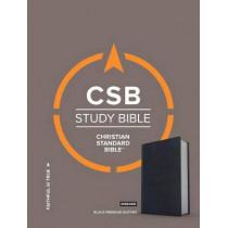 CSB Study Bible, Premium Black Leather, Indexed by CSB Bibles by Holman CSB Bibles by Holman, 9781433648069