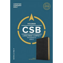 CSB Large Print Compact Reference Bible, Black LeatherTouch by CSB Bibles by Holman CSB Bibles by Holman, 9781433648144