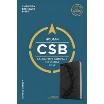 CSB Large Print Compact Reference Bible, Charcoal LeatherTouch by CSB Bibles by Holman CSB Bibles by Holman, 9781433648182
