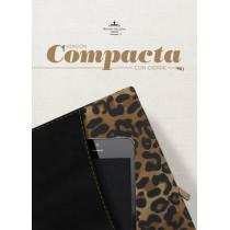 RVR 1960 Biblia, Edicion Compacta con cierre, negro/leopardo simil piel, 9781433691171
