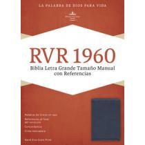 RVR 1960 Biblia Letra Grande Tamano Manual con Referencias, mango/fresa/durazno claro simil piel, 9781433691430
