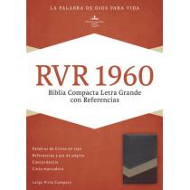 RVR 1960 Biblia Compacta Letra Grande con Referencias, marron/tostado/bronceado simil piel, 9781433691522