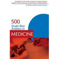 500 Single Best Answers in Medicine by Sukhpreet Singh Dubb, 9781444121520
