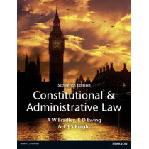 Constitutional and Administrative Law by A. Bradley, 9781447904212