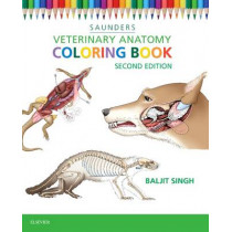 Veterinary Anatomy Coloring Book by Baljit Singh, 9781455776849