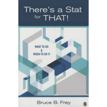 There's a Stat for That!: What to Do & When to Do it by Bruce B. Frey, 9781483318752