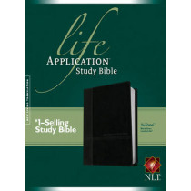 NLT Life Application Study Bible Tutone Black/Onyx, 9781496413444