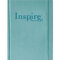 NLT Inspire Bible Large Print, Tranquil Blue, 9781496419859