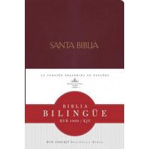 RVR 1960/KJV Biblia Bilingue, borgona imitacion piel by Bible, 9781558190313