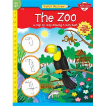 The Zoo: A Step-by-Step Drawing & Story Book by Jenna Winterberg, 9781560107989