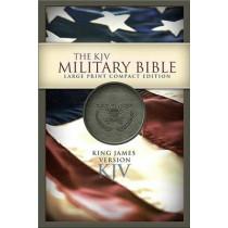 KJV Large Print Compact Military Bible by Holman Bible Staff, 9781586403652